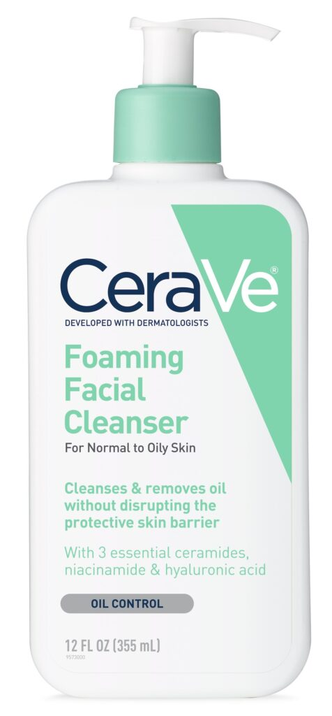 CeraVe Foaming Face Wash for oily skin