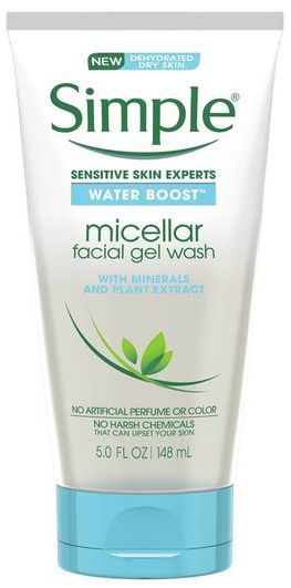 simple facial gel wash